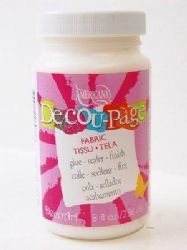 DecoArt Americana - Decou-Page Glue/Sealer/Finish - Fabric - 8oz (1)